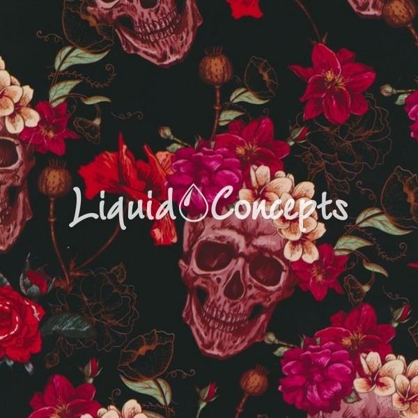 Pink flower skulls hydrographics dipping company liquid concepts pink flower skulls 1m wide mightylinksfo
