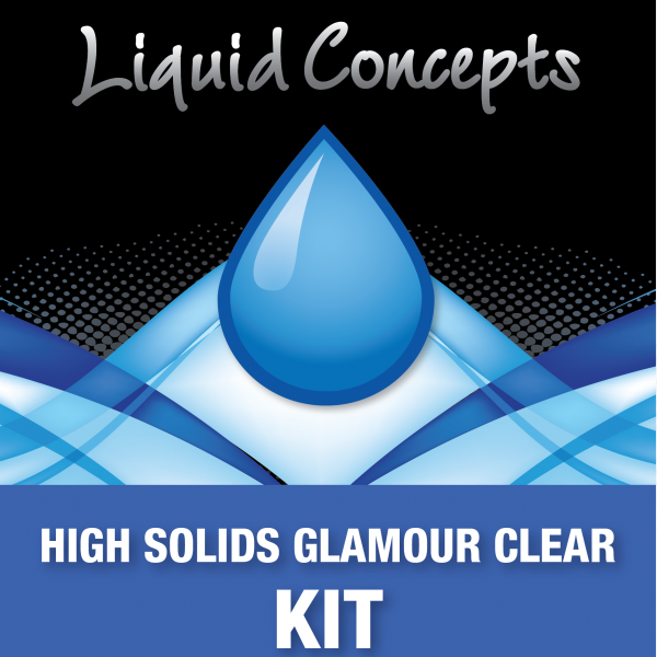 Hydrographic Paint High Solids Glamour Clear Kit -