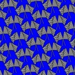 Checkered Flags Blue