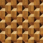 Cube Illusion Wood Veneer