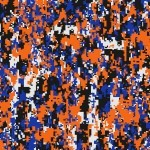 Digital Camo Blue and Orange