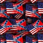 US and Confederate Flag