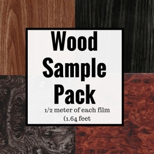 DIY Wood Grain Film Sample Pack