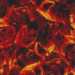Flaming Red Skulls