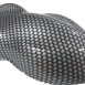 Hydrographic Film Silver Basket Weave Carbon - CF-274-50cm Alternate Image 1